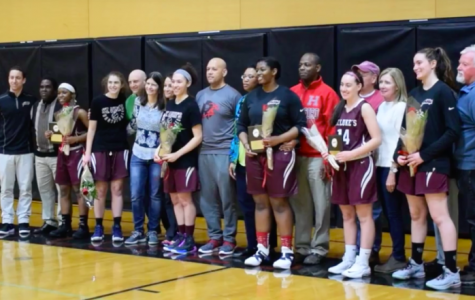 Girls Varsity Basketball Team's Camaraderie Propels Them to Triumphant Senior Day