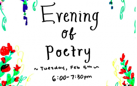 English Department to Host Evening Poetry Reading