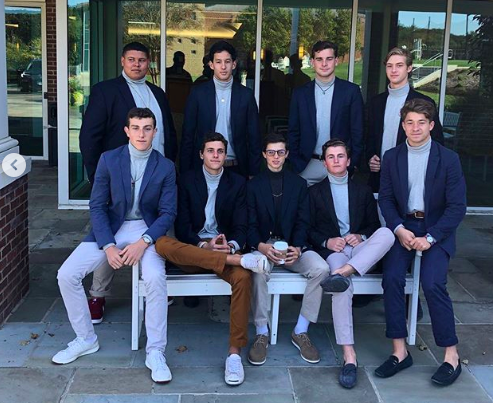 The Turtleneck Tuesday Club: Dylan Johnson '20, Andrew Lau '20, Jack Truwit '20, Wes Meyers '20, Justin Pearl '21, Nick Brown '20, Landon Bachman '20, Ned Cummings '20, Phil Platek '20