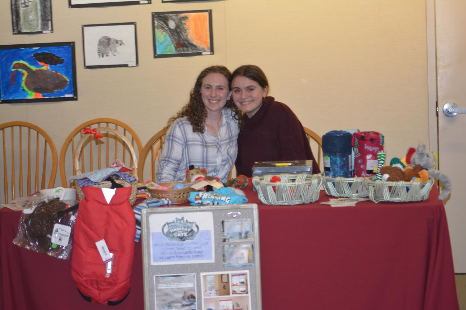 Behind the Booth at the Holiday Boutique