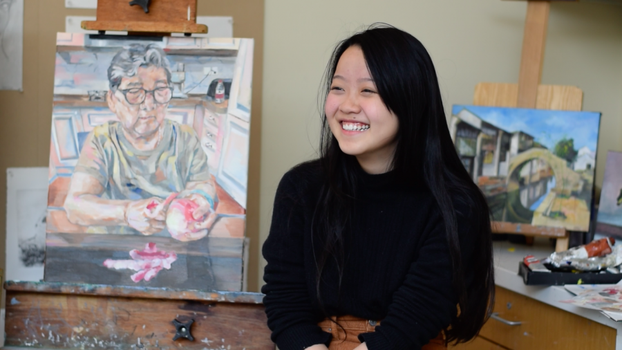 Moli Ma '21 Expresses Distinct Individuality Through Paintings