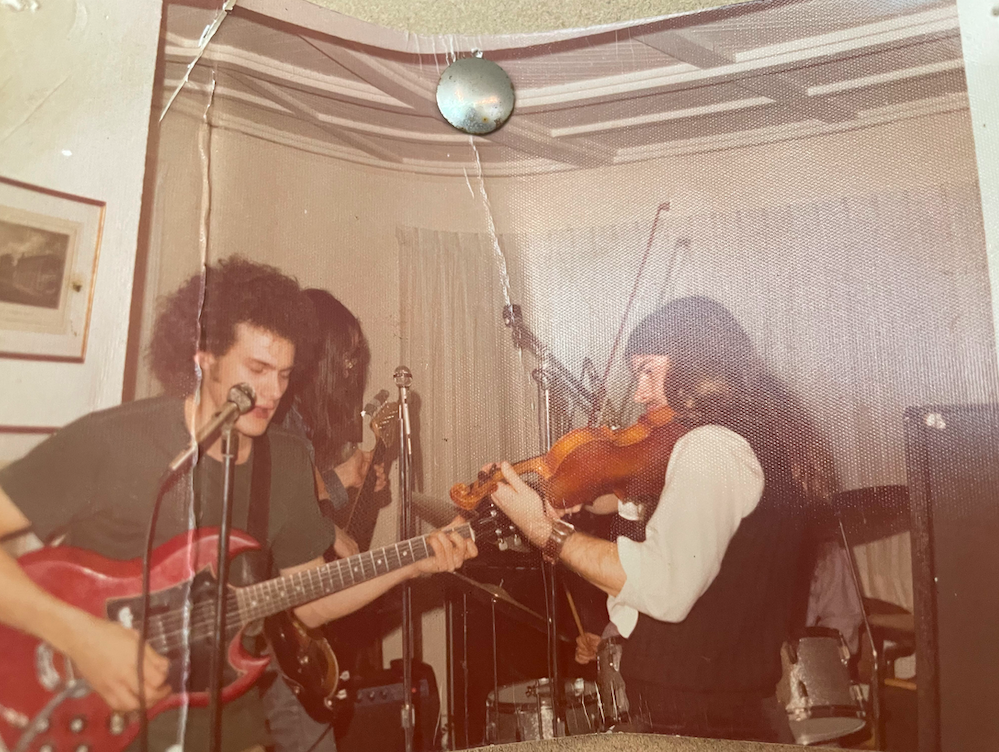 Flachs playing the fiddle in 1974!